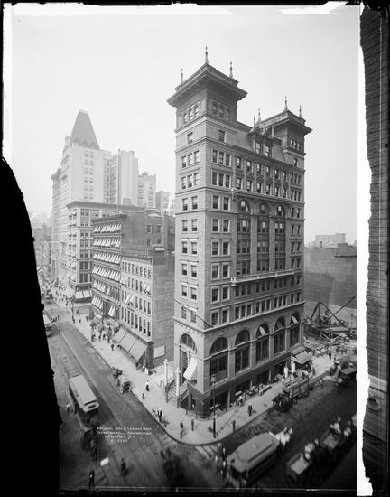 SW corner B'way & Chambers, 1915 (all demolished)