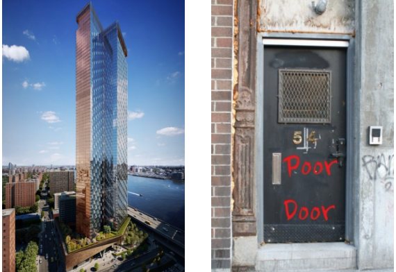 The Extell tower for the Lower East Side and a poor door.