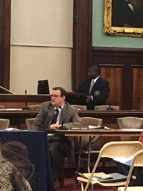 Councilmember Andrew Cohen of the Bronx, one of the few to ask good and pointed questions.