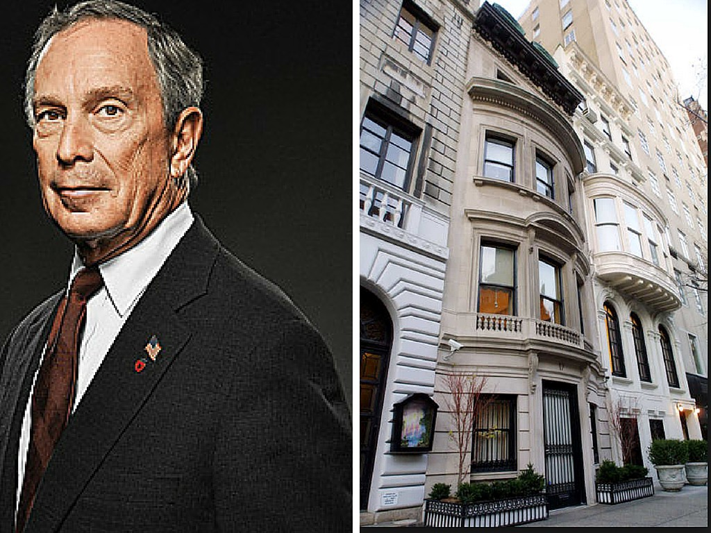 Ex-Mayor Bloomberg (left) launched the city into the world of hyper-density all while living in a lovely, human-scale landmarked townhouse on East 79th Street.